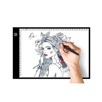 A4 LED Light Box Tracer Drawing Pad with Adapter, Dimmable