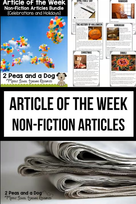Article of the Week Middle School Non-Fiction Articles