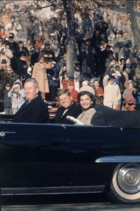 President John F. Kennedy & Jackie Inauguration Day 1961