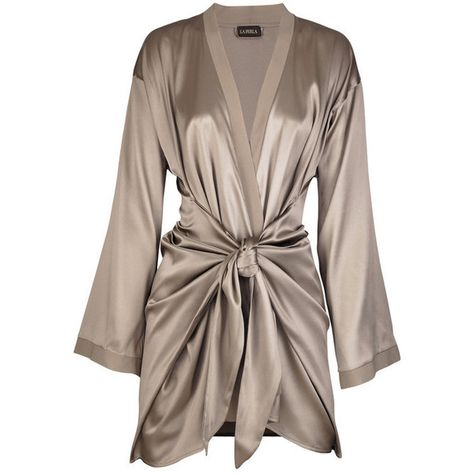 La Perla Satin silk-blend robe and other apparel, accessories and trends. Browse and shop related looks.