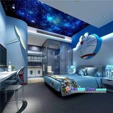 Doraemon Room Warna Eksterior Rumah Kamar Tidur Anak Kamar Tidur New small doraemon room kamar