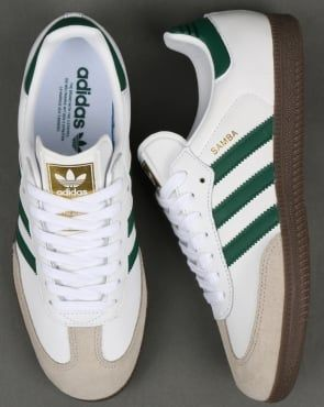 b147b548682 adidas Trainers Adidas Samba OG Trainers White/Green | Men's fashion ...