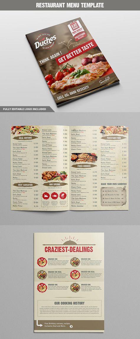 22 best Creative Menu Templates images on Pinterest Menu - food menu template
