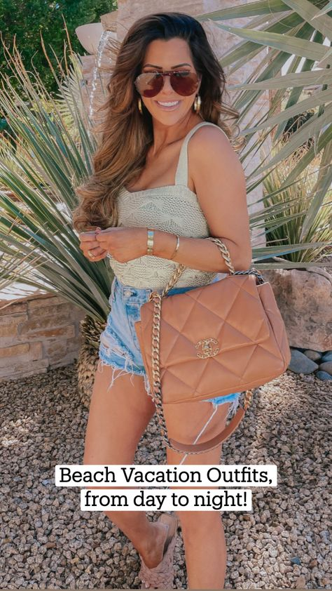 Beach Vacation Outfits, from day to night!