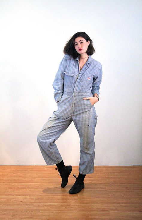 40s Herringbone Denim Coveralls M Penney S Big Mac Overalls