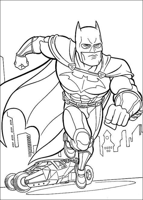 kleurplaten batman 24  superhelden malvorlagen