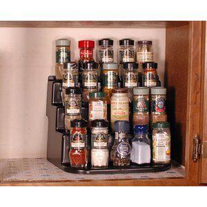 Bamboo Inspirations 16 Jar Spice Jar Rack Set In 2021 Shelving Racks Kitchen Shelves Cabinet Spice Rack