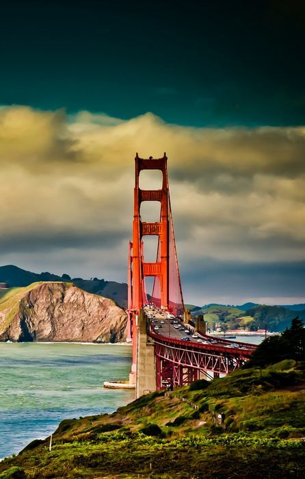 San Francisco Bridge Sky River Cloudy Retina San Francisco Bridge Golden Gate San Francisco Golden Gate Bridge
