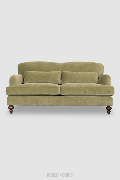 78 Sofa Tight Back English Roll Arm Sofa In Lichen Velvet With Knife Edge Lumbar Pillows From Roger Chris English Roll Arm Sofa Rolled Arm Sofa Sofa