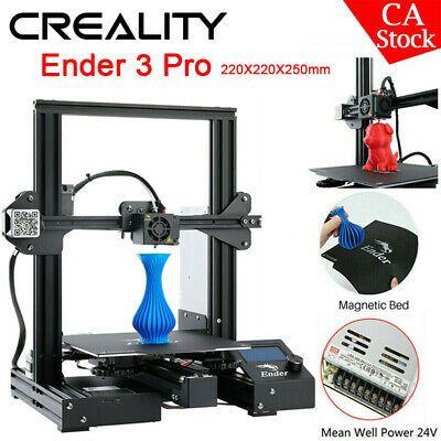 Us Creality 3d Printer Ender 3 Pro Home Diy 220x220x250mm Meanwell Power Supply Diy Prints Diy Kits 3d Printer Diy