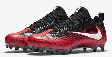 64a05560f6d8 Nike Men's Vapor Untouchable Pro Football Cleats 839924 602 Red/Black Size  12.5 #Nike #FootballCleats