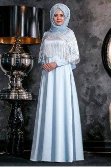 Nagme Abiye Bebe Mavi Annahar Moda Stilleri Giyim Elbiseler