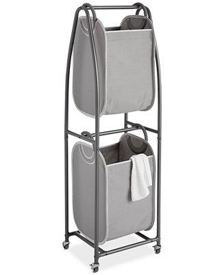 Neatfreak 2 Tier Rolling Vertical Laundry Sorter With Hamper Totes