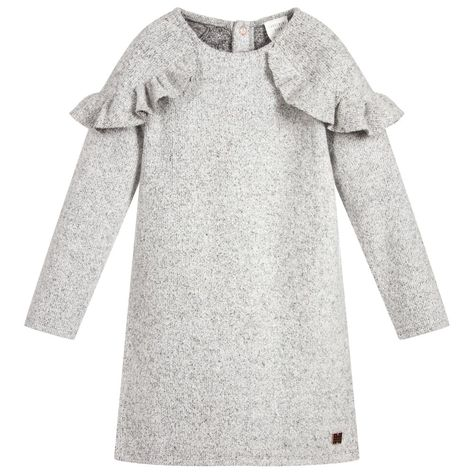 f0a6263ee Girls Grey Viscose Blend Dress