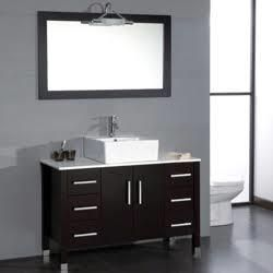 8116 Bn 48 Espresso Bathroom Vanity Set With A Brushed Nickel