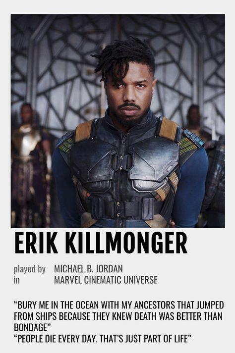 Erik Killmonger Polaroid Poster