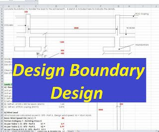 Design of Boundary wall spreadsheet | Engineering in 2019 | Boundary
