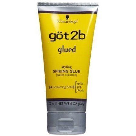 Got2b Glued Spiking Max Hold Hair Styling Glue Gel 6oz Walmart Com In 2020 Got2b Glued Spiked Hair Hair Glue
