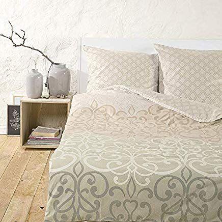 Ibena Bettwasche Set Baumwolle 200x200cm Mit 2 Kopfkissenbezugen