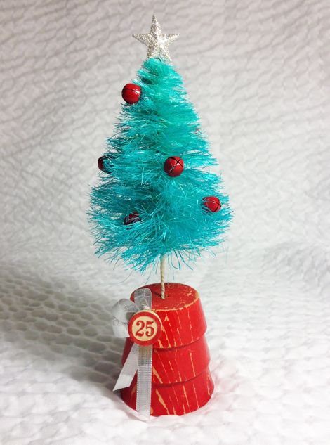 What an awesome tutorial to make your own Bottle Brush trees from Just Something I Made