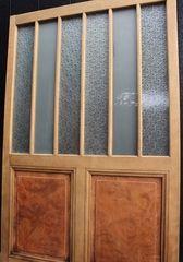 楢と欅の縞々ガラス戸 Gd1146 ガラス戸 楢 建具