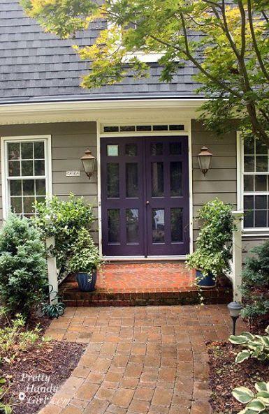 47 Ideas Eggplant Purple Front Door Exterior House Paint Color Combinations House Paint Exterior Green Exterior House Colors