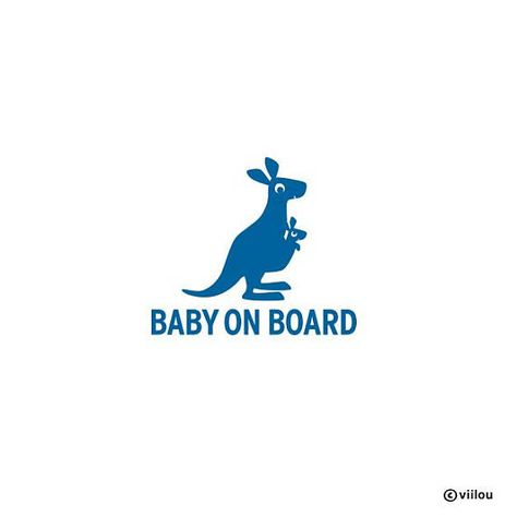 Kangaroo K/änguru Vinyl stickers
