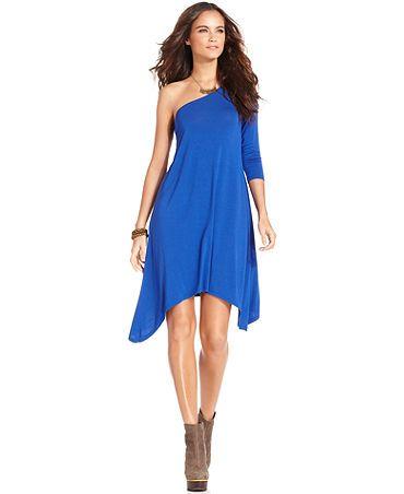 Kensie one-sleeve a-line dress