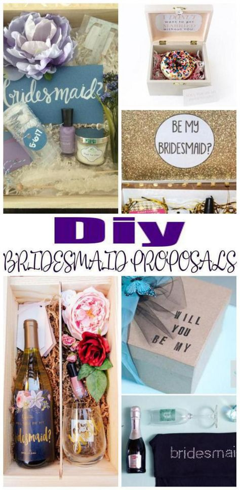 DIY Bridesmaid Proposals! Find amazing fun creative and unique DIY bridesmaid proposal ideas. Great ideas for future bridesmaids maid of honor or junior flower girls! So many amazing ideas from alcohol spa boxes & more. Cheap elegant and fun stuff! Find the best DIY bridesmaid proposal ideas now! #howtogethimtopropose