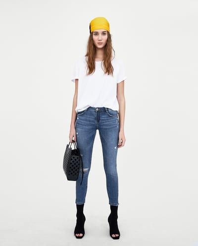 a65b91cc41 LOW-RISE PUSH-UP 'CURVES' RIPPED JEGGINGS-Skinny-JEANS-WOMAN | ZARA ...