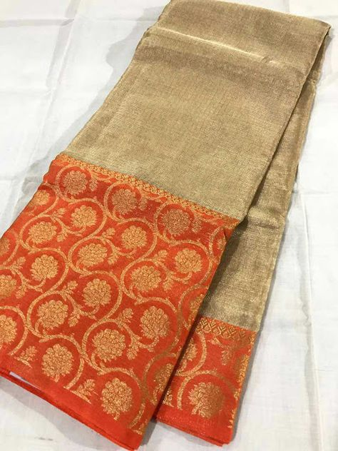 Pure golden tissue Kota sarees | Buy Online Kota Tissue Sarees | Elegant Fashion Wear