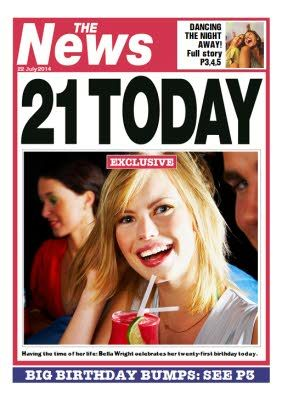 Newspaper Spoof 21st Birthday Card In 2021 21st Birthday Cards Birthday Cards 21st Birthday