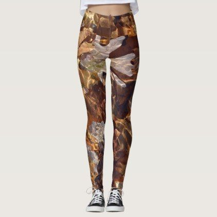 c9fc9e99e622 Swimming Autumn Leaves Abstract Photograpy Camo Leggings - outdoor gifts  unique cyo personalize