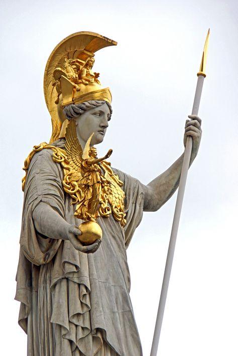 Pallas Athena, Austria themes → ornate Pinterest - brunnen la sculptura