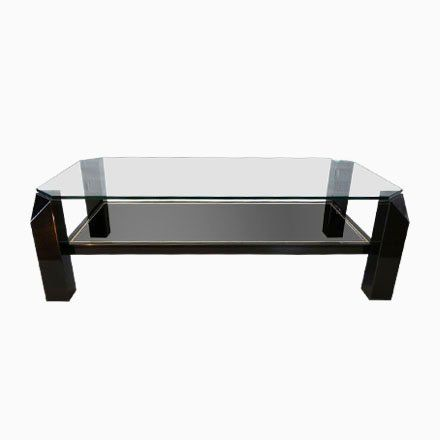 Black Gold Plated Sculptural Coffee Table From Belgo Chrom