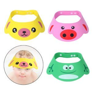Baby Wash Cap Child Kids Hat Soft Adjustable Bathing Cartoon Protector Baby Care Baby Wash Soft Hats Baby Care