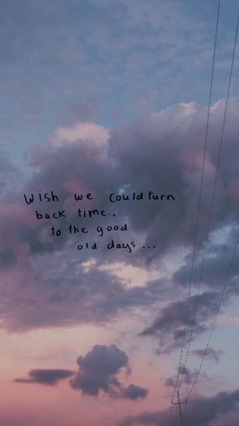 """Wish we could turn back time, to the good old days."" - Twenty One Pilots 'Stressed Out' song lyrics quote Song Lyric Quotes, Music Quotes, Words Quotes, Sayings, Music Lyrics, Good Song Lyrics, Quotes From Songs, Lyric Quotes Tumblr, Art Music"