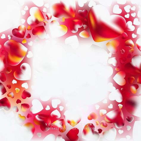 Valentines Day Red White Heart Background Vectors