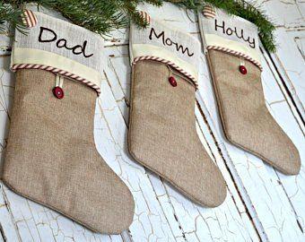 Personalized Christmas Stockings Etsy Christmas Stockings Christmas Stockings Diy Stockings Christmas Homemade