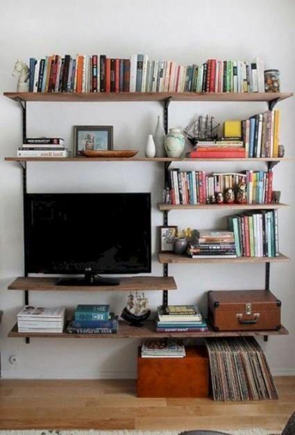 Creative Book Storage Small Spaces Bookshelves 53 Ideas Book