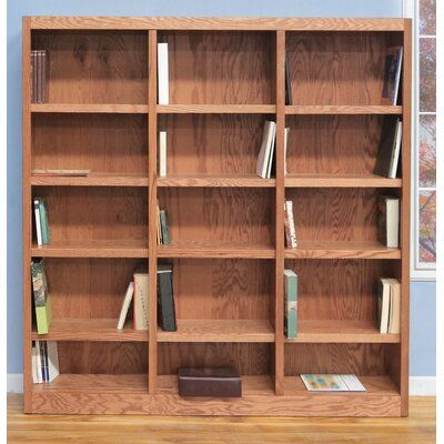 Winston Porter Flannagan 72 H X 72 W Library Bookcase Birch Lane In 2020 Library Bookcase Bookcase Wide Bookcase