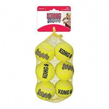 Kong Squeak Air Balls Dog Toy 6 Pack Medium Dog Toys For Big