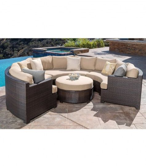 Belmont 4 Piece Curved Sectional Set Abbyson Furniture And Home