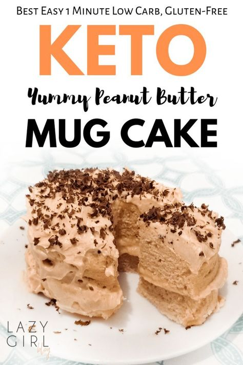 This easy peanut butter mug cake is fudgy, moist, sugar-free, grain-free, gluten-free, low carb microwave dessert recipe takes less than 5 minutes from start to finish. It doesn`t just taste great but also look soo elegant and beautiful. #keto #mug #cake #peanutbutter #1minute #ketomugcake #ketopeanutbuttermugcake #ketorecipe #easyketodessert #lazygirltips