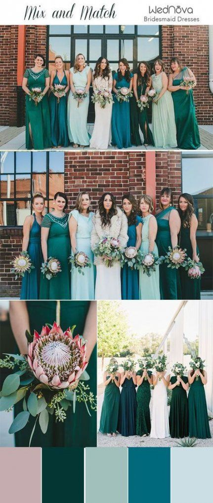 Pin By Joy Gaelo On Dress Bridesmaid Dresses Different Colors