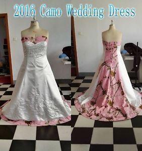 Camouflage Wedding Bridal Custom Dress Gowns Plus Size
