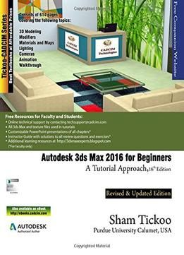 Autodesk 3ds Max 2016 For Beginners A Tutorial Approach PDF