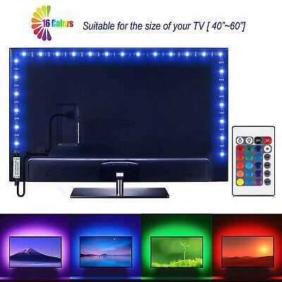 5m Led Strip Light 5050 Rgb 60 Leds M Ip65 Tv Backlight 24key Remote Usb Dc 5v Ebay Led Strip Lighting Strip Lighting Led Strip