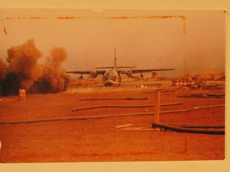 Arrival and departure--perilous adventures at the Siege of Khe Sanh , 22February68. Photo courtesy of the National Archives. BRAVO! COMMON MEN, UNCOMMON VALOR @ https://bravotheproject.com/. #BRAVO! #USMC #KheSanh #VietnamWar #NARA