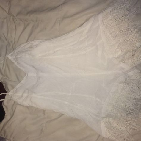 white romper worn once nice details really nice romper Urban Outfitters Dresses Strapless